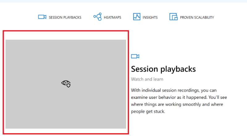 Conteúdo escondido no Microsoft Clarity