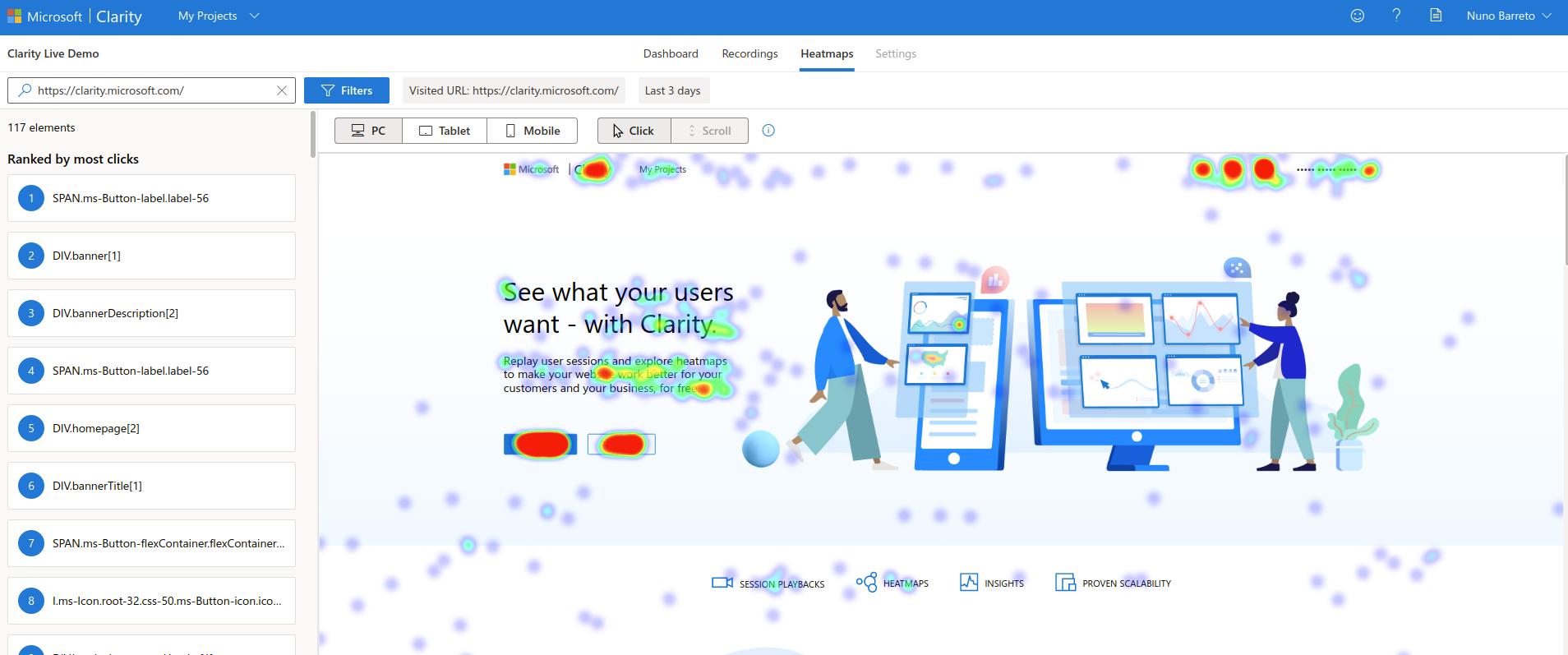 Microsoft Clarity Heatmaps