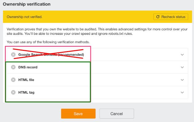 Verifcar propriedade de site sem partilhar informação com Ahrefs